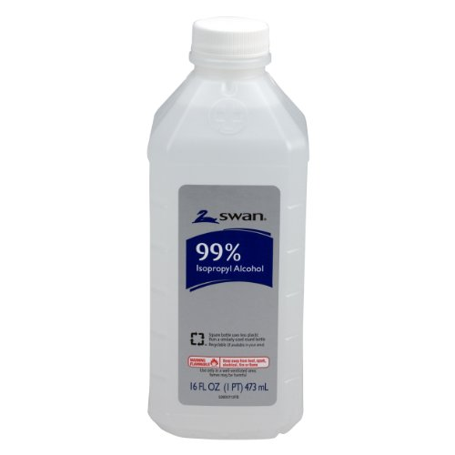 Swan Isopropyl Alcohol, 99%, Pint, 16 (100 Proof Alcohol)