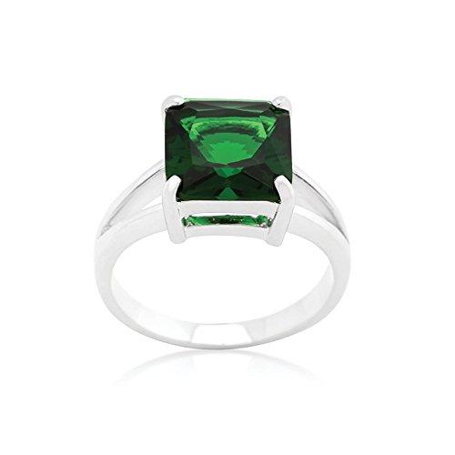 J Goodin Precious Fahion Emerald Gypsy Ring Size 9