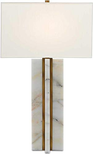 Currey & Company Table Lamp Khalil Rectangular Shade Rectangle 1-Lig (Rectangular Lamp Currey Table)