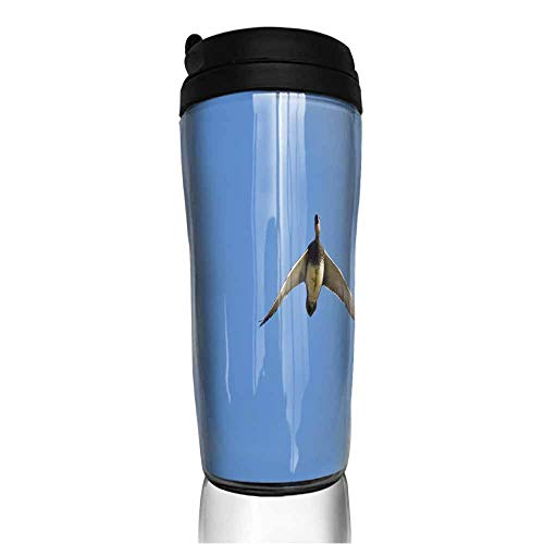 coffee cups set of American Wigeon Flying in a Blue Sky 12 oz,yeti cup for coffee ()