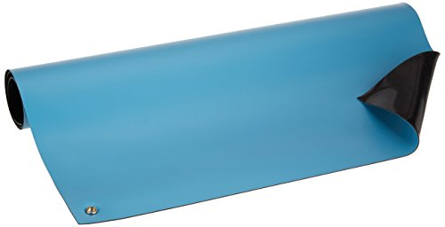 Bertech ESD High Temperature Rubber Mat Kit with a Wrist Strap and Grounding Cord, 2' Wide x 3' Long x 0.08'' Thick, Blue by Bertech (Image #4)