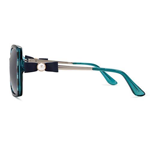 Soleil Mirror de C lunettes Bow Miroir Femme de Large Retro Nouveau Sport Des B Lunettes Couleur Frame polarisées de soleil Legs Conduite OwqWY7