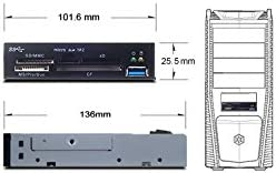Black Silverstone Aluminum Front Panel 5.25-Inch to 3.5-Inch Bay Converter FP55B Computers /& Accessories