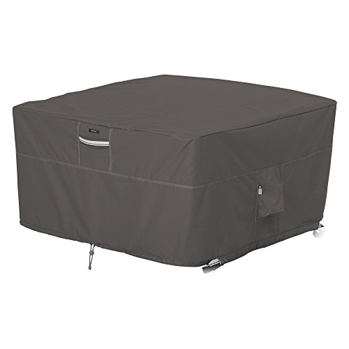 Classic Accessories Ravenna 42 in. Square Fire Pit Table Cover