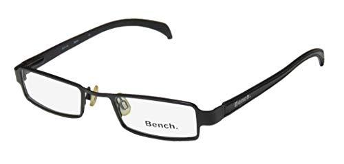 Bench Bch-92 Mens/Womens Rectangular Shape Flexible Hinges Spectacular Classy Authentic Hip Eyeglasses/Eyeglass Frame (45-18-135, Black) (Faux-brille)