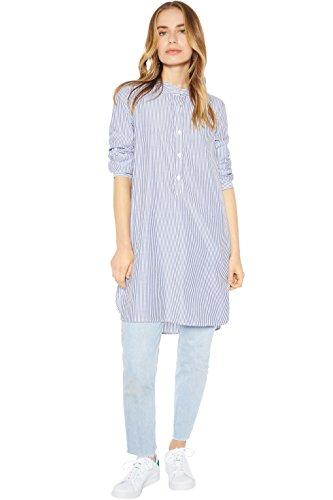 Rohb by Joyce Azria Capri 2-in-1 Combo Button Down Mandarin Collared Tunic Shirt and Dress (Navy/White) Size M by Rohb