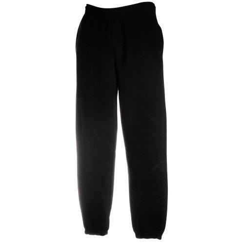 "Fruit of the Loom Mens Premium 70/30 Elasticated Jog Pants/Jogging Bottoms (S (32"" Waist)) (Black)"