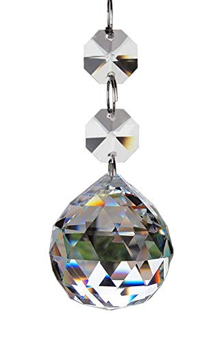 (Fushing 20pcs Crystal Glass Ball Chandelier Prisms Pendants Parts Beads (20mm,)