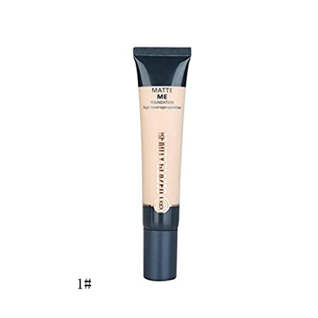 Beauty Glazed Liquid Foundation Concealer BB Cream, Sweatproof Moisturizing Waterproof Concealer/Isolation/Whitening/Bright Lasting Blemish Balm Coverage Makeup Base #01