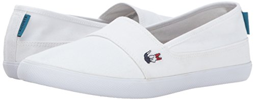 Lacoste Women's Marice 317 1 Fashion Shoe Sneaker, White, 6 M US