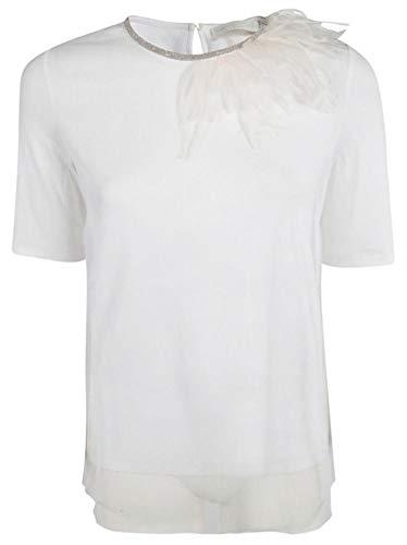 Cotone Donna shirt Je46719h249vr1 Fabiana Filippi T Bianco fqwXc6ga