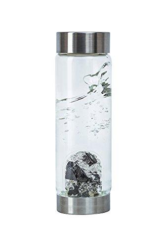 VitaJuwel Gemwater Infused Glass Bottle with Crystals Gemstone (Vision) by VitaJuwel