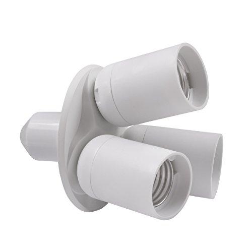 8T8 3 in 1 Light Socket Adapter Splitter, E26 E27 Lamp Holder Converter for Photo Studio Photography Home Indoor Lighting (Studio_3) by 8T8 (Image #1)