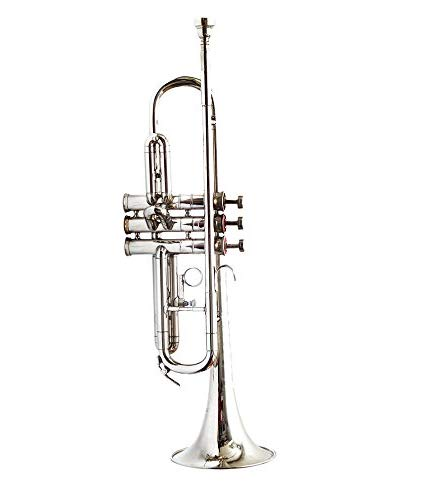 MAHA LAKSHMI EXPORTS Trumpet, Bb Pure Nickle Silver Finishing Good Quality Brass Material