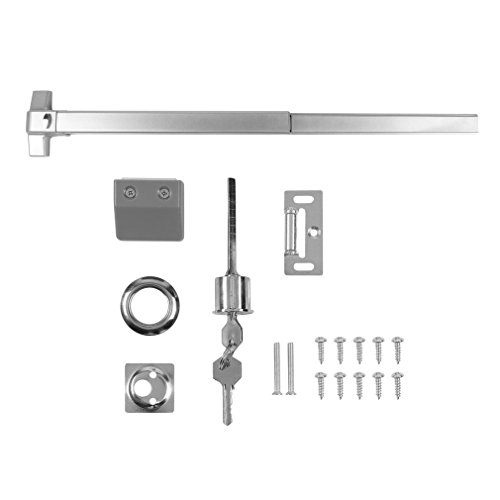 Chennly Door Push Bar Panic Exit Device, with Exterior Lever for Wood Metal Door