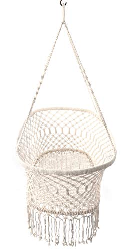 Here There Macrame Cradle Hanging Hammock for Baby Girl Boy Pure Cotton Knit Baby Crib 90x55x34 cm 35 x21.6 x13.4