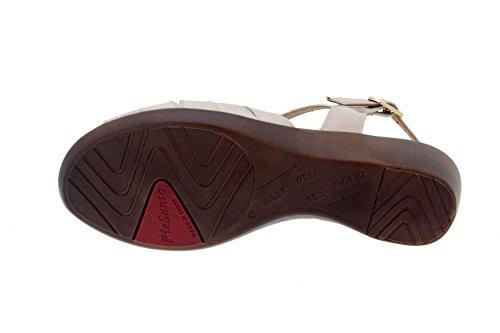 Calzado mujer confort de piel Piesanto 8555 sandalia cuña zapato cómodo ancho Visón