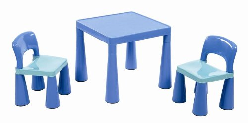 Liberty House, Tavolino per bambini, con 2 sedie, Blu (blau) LHSM004B