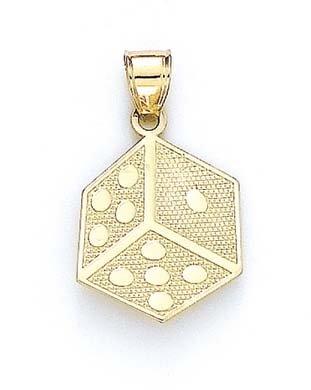 JewelryWeb dés 14 Carats Pendentif