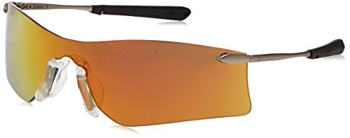 (Crews T411R Rubicon Safety Glasses Fire Mirror, Lens, 1 Pair)