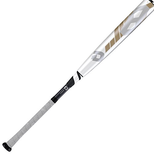 Wilson DeMarini CF8 BBCOR Baseball Bat, 34'/31 oz, White/Silver/Gold