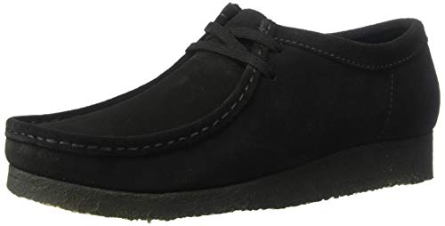 CLARKS Men's Wallabee Moccasin, Black Suede, 95 M US ()