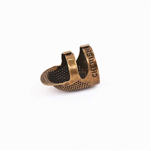 Essencedelight Sewing Thimble Vintage Finger Protector Adjustable Finger Shield Pin Needles Craft Accessories DIY ()