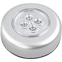 2 Pack Clap Sensor Night Light Under Cabinet Lighting Kit Battery-Powered 4 LED Night Lights,Under Counter Lights Closet…