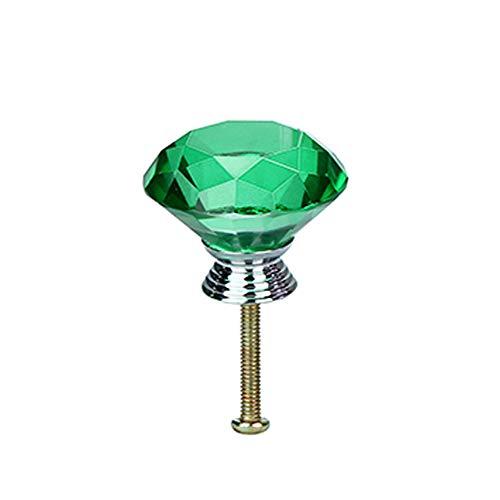 Hot Sale!DEESEE(TM)Crystal Glass Diamonds Ceramic Cabinet Wardrobe Drawer Cupboard Knob Pull Handle (A)