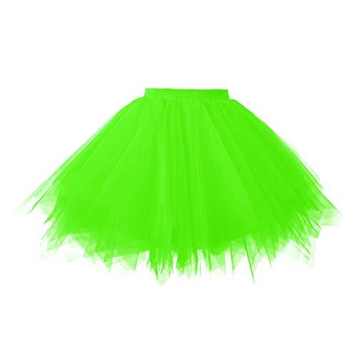 Topdress Women's 1950s Vintage Tutu Petticoat Ballet Bubble Skirt (26 Colors) Green XL]()
