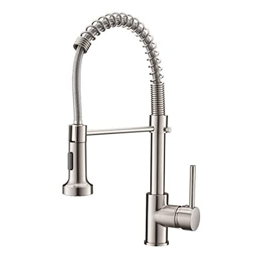 Farmhouse Kitchen Commercial Pull Down Sprayer Kitchen Sink Faucet,Modern Stainless Steel Single Handle Spring Pull Down Kitchen Faucet… farmhouse sink faucets