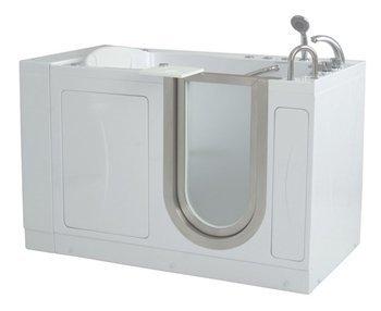 52'' x 32'' Royal Massage Whirlpool Walk In Tub Door and Drain Location: Left