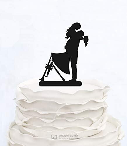 Decoración para tarta con diseño de notas musicales con ...