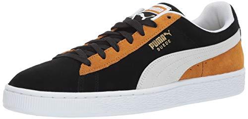 PUMA Men's Suede Classic Sneaker Black Whit, 10 M -