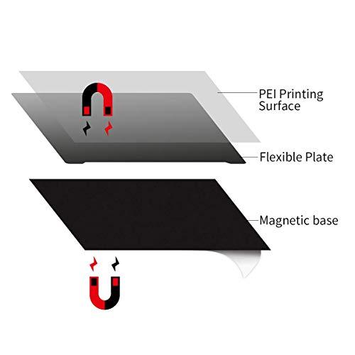 3D Printer Magnetic Flexible Build Printing Surface 3D Platform UK 220mmx220mm