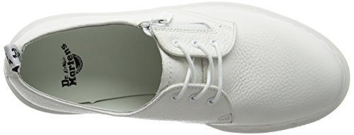 Dr. Martens Womens 1461 W / Zip Oxford White Zia Sally