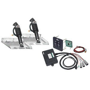 Lenco 12'' x 9'' Standard Performance Trim Tab Kit w/Standard Tactile Switch Kit 12V