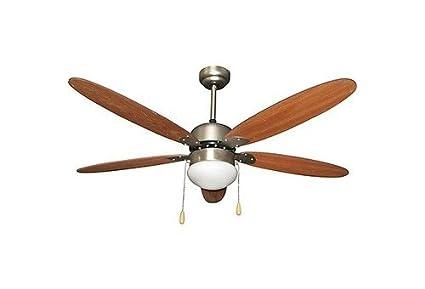 Zephir zfs9110m ventilatore da soffitto con lampada marrone: amazon