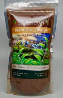 Neem Bark Powder 1 lb, Organic, Pure, Fresh Cut, Shade Dried, Hand Ground – Supports Digestive Health, Healthy Gums, Teeth, Skin. Good for pets. For Sale