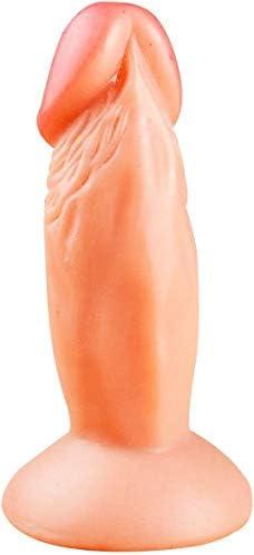 CCIG Mini Echter Fantasie-Sexy-Dildo, 120Mm, Fleisch, Schwarz,Flesh