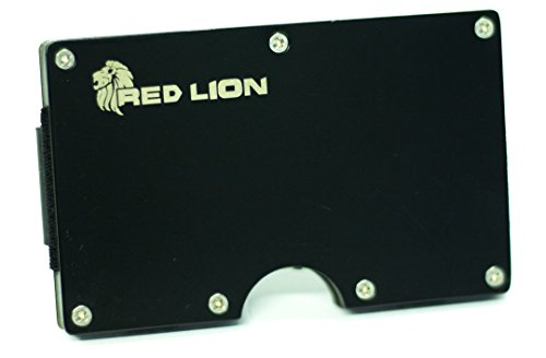 Red Lion Metal Money Clip Wallet For Minimalist, Includes Premium Gift Boxing