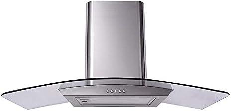 Sia cp111ss 110 cm curvado (Cristal y Acero Inoxidable Extractor De campana: Amazon.es: Grandes electrodomésticos
