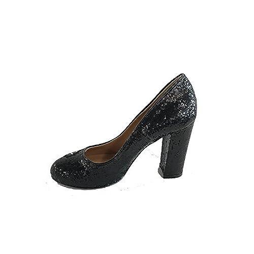 263cec42 Bueno wreapped Love Moschino - Zapatos de Vestir de Piel para Mujer Negro  Negro