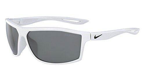Nike EV1010-100 Intersect Sunglasses (Frame Grey with Silver Flash Lens), White ()