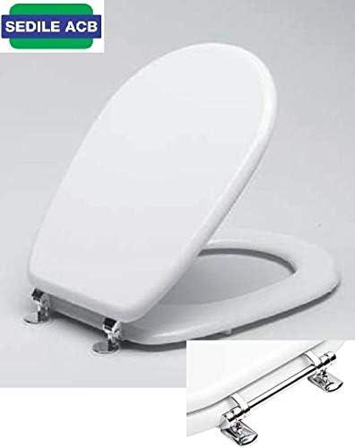 Sedile Copri Wc Dolomite.Sedile Copri Water Asse Wc Per Ceramica Lago Dolomite Acb Linea Platinum Bianco Bsforado05 Amazon It Fai Da Te