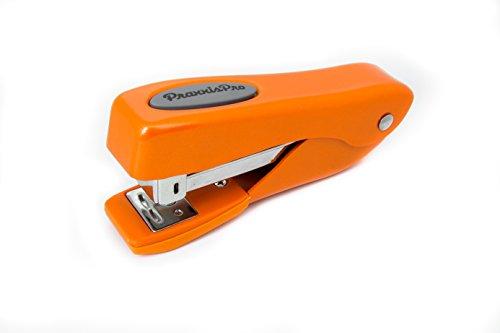 Grip Stapler (Small Office Stapler, PraxxisPro Fortis Compact Grip, Mini Desktop Stapler (Orange))