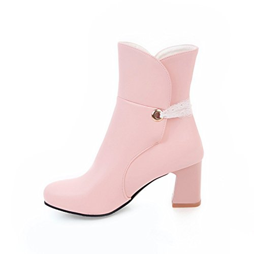 Stiefel Ladola Womens Pink Urethan Leichter Strass Metallstäbchen qw1gX4w