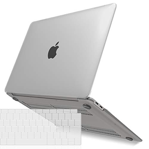 IBENZER MacBook Air 13 Inch Case 2020 2019 2018 New Version A1932, Hard Shell Case with Keyboard Cover for Apple Mac Air 13 Retina with Touch ID,Frost Clear, MMA-T13CL+1