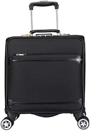 BXDYA 拡張可能なスピナートラベル拡張ローリングアップライト荷物、チェック-大オックスフォード布ビジネスオフィスバッグトロリーケース旅行キャビンバッグ (Color : Black)