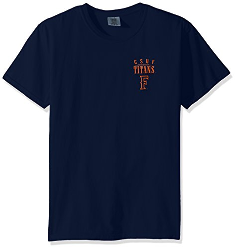 NCAA Cal State Fullerton Titans Adult Unisex NCAA Limited Edition Comfort Color Short sleeve T-Shirt,XL,TrueNavy